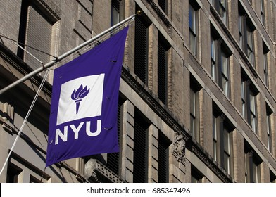 NEW YORK - JULY 16: An NYU building in New York, NY on July 16, 2017. New York University is a private nonprofit research University located in New York City.