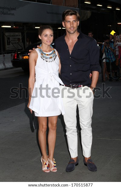 """NEW YORK - JULY 16: Olivia Palermo and Johannes Huebl attend a screening of """"Red 2"""" at the Museum of Modern Art on July 16, 2013 in New York City."""