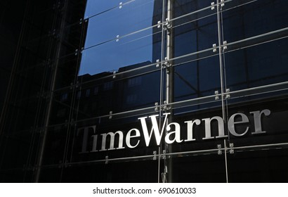 NEW YORK - JULY 16: The Time Warner headquarters in New York, NY on July 16, 2017. Time Warner is an American multinational mass media and entertainment conglomerate.