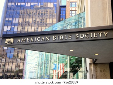 NEW YORK - JULY 17: The American Bible Society headquarter on July 17, 2011 in New York. The ABS is a nonprofit organization founded in 1816 which publishes, distributes and translates the Bible.