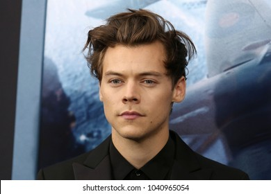 "NEW YORK - July 18, 2017:  Harry Styles attends the premiere of ""Dunkirk"" at AMC Loews Lincoln Square on July 18, 2017, in New York City."