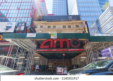 New York, July 19, 2018:AMC Movie Theater Location. AMC Theaters is an American Movie Theater Chain VII