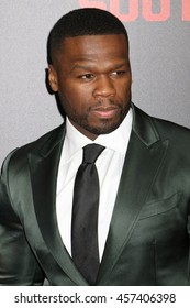 "NEW YORK - JULY 20, 2015:  50 Cent aka Curtis Jackson attends the premiere of ""Southapaw"" at the AMC Lincoln Square Theater on July 20, 2015 in New York City."
