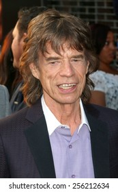 """NEW YORK - JULY 21, 2014: Mick Jagger attends the premiere of """"Get On Up"""" at the Apollo Theater on July 21, 2014 in New York City."""