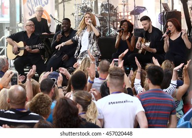 """NEW YORK - JULY 22, 2016:  Celine Dion performs on the NBC """"Today"""" show concert series on July 22, 2016, in New York City."""