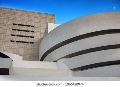 NEW YORK - JUN 15: Solomon R. Guggenheim Museum in New York City on July 15, 2011.  The museum was designed by Frank Lloyd Wright.