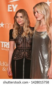 NEW YORK - JUN 17: Ashley Benson (L) and Georgia May Jagger attend the 2019 TrevorLIVE New York Gala at Cipriani Wall Street on June 17, 2019 in New York City.