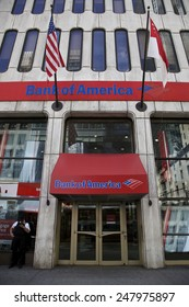 NEW YORK - JUNE 06: Bank of America branch in New York, United States America on June 06, 2014. Billion fine to settle allegations sold toxic mortgages to investors. Photo taken on: June 06th, 2014
