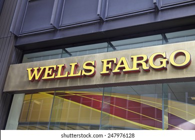 NEW YORK - JUNE 06: Wells Fargo branch in New York, United States America. Photo taken on: October 10th, 2014.