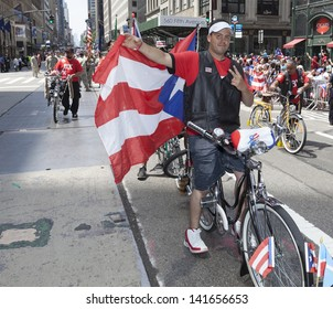 NEW YORK - JUNE 09: Atmosphere at the National Puerto Rican Day Parade on the streets of Manhattan on June 09, 2013 in New York City