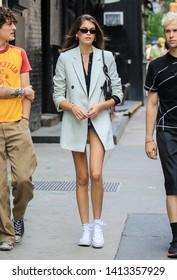 NEW YORK - JUNE 1: Kaia Gerber is seen on June 1, 2019 in New York City.