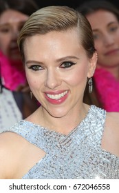 "NEW YORK - JUNE 12, 2017:  Scarlett Johansson attends the premiere of ""Rough Night"" at the AMC Lincoln Square Theater on June 12, 2017 in New York City."