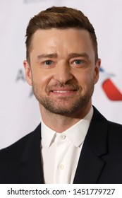 NEW YORK - JUNE 13, 2019: Justin Timberlake attends the Songwriters Hall of Fame at the Marriott Marquis on June 13, 2019, in New York City.