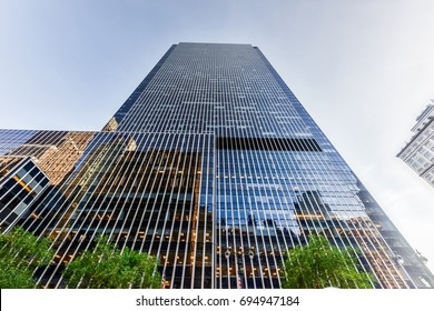 New York - June 14, 2017: One Penn Plaza,  designed by Kahn & Jacobs and completed in 1972. It reaches 750 feet (230 m) with 57 floors.