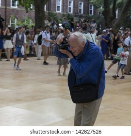 NEW YORK - JUNE 15: Photographer Bill Cunningham attends 8th annual Jazz Age lawn party by Michael Arenella & the Dreamland Orchestra on Governors Island on June 15, 2013 in New York Times