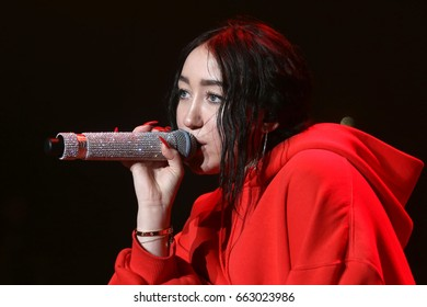 NEW YORK - JUNE 16, 2017:  Noah Cyrus performs during the Summer Jam concert at the Jones Beach Theater on June 16, 2017 in New York.