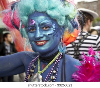 NEW YORK - JUNE 20: An unidentified Participant attends the 2009 Mermaid Parade at Coney Island on June 20 2009 in the Brooklyn borough of New York City.