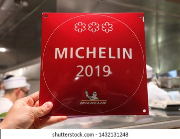 NEW YORK - JUNE 22, 2019: Three Micheline star restaurant Le Bernardin in Midtown Manhattan