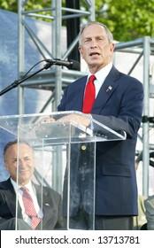 NEW YORK - JUNE 25: New York City Mayor Michael Bloomberg speaks as he attends the Greater New York Billy Graham Crusade June 25, 2005 in Flushing, New York.