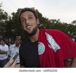 NEW YORK - JUNE 26: Marco Bellinelli attends at The Sixth Steve Nash Foundation Showdown at Sarah D. Roosevelt Park on June 26, 2013 in New York City.