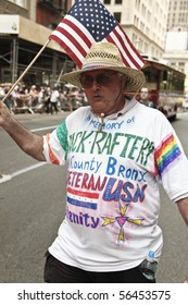 NEW YORK - JUNE 27: Unidentified participant attends the 2010 New York City Gay Pride March on the streets of Manhattan on June 27, 2010 in New York City.