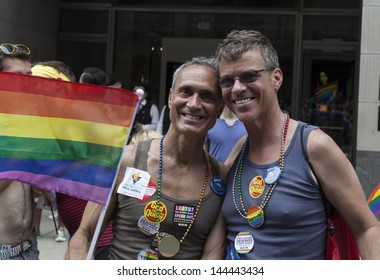 NEW YORK - JUNE 30: Atmosphere during annual 43rd Pride Parade on Fifth Avenue in Manhattan on June 30, 2013 in New York City