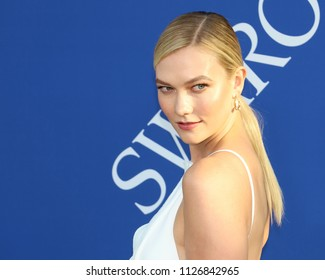 NEW YORK - JUNE 4, 2018: Karlie Kloss attends the CFDA Awards at the Brooklyn Museum on June 4, 2018, in New York.