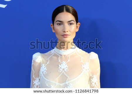 NEW YORK - JUNE 4, 2018: Lily Aldridge attends the CFDA Awards at the Brooklyn Museum on June 4, 2018, in New York.