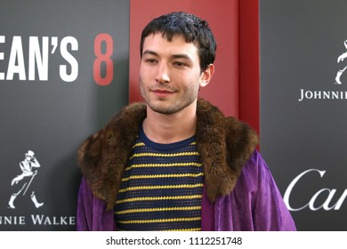 "NEW YORK - JUNE 5, 2018: Ezra Miller attends the premiere ""Ocean's 8"" at Alice Tully Hall on June 5, 2018, in New York City."