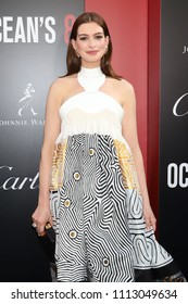 """NEW YORK - JUNE 5, 2018:  Anne Hathaway attends the premiere """"Ocean's 8"""" at Alice Tully Hall on June 5, 2018, in New York City."""