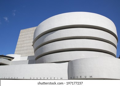 NEW YORK - JUNE 5: The Solomon R. Guggenheim Museum of modern and contemporary art in Manhattan on June 5, 2014.  Designed by Frank Lloyd Wright museum opened on October 21,1959