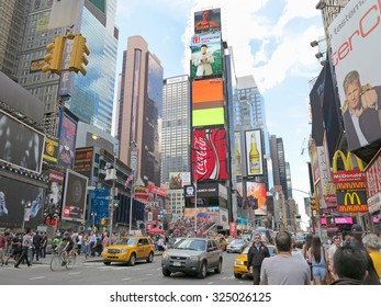 NEW YORK, NEW YORK - June 7, 2012 - Times Square in New York City, USA during the daytime