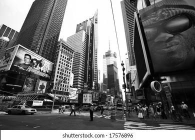 NEW YORK - JUNE 8: New York Times Square street scene June 8, 2008