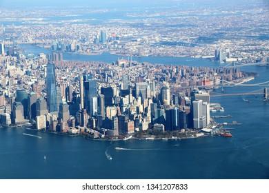 New York Lower Manhattan aerial