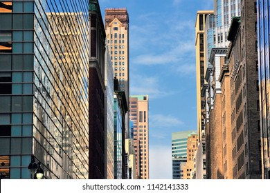 New York - Madison Avenue skyline. United States city view.