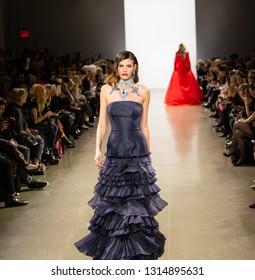New York, Manhattan, 50 Varick Street - February 13, 2019: Zang Toi Fashion Show FW19, New York Fashion Week 2019