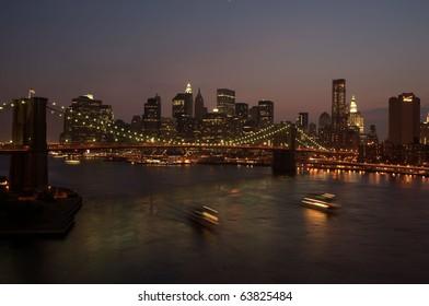 New York Manhattan Bridge view