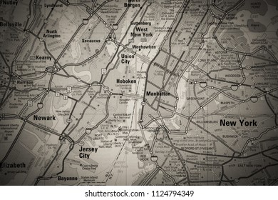 New York map background