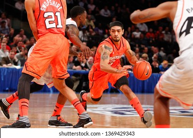 NEW YORK - MAR 10: Louisville Cardinals guard Peyton Siva (3) dribbles during the Big East Tournament vs the Cincinnati Bearcats on March 10, 2012 at Madison Square Garden in New York City.