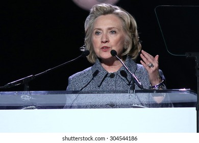 NEW YORK - March 10, 2015: Hillary Clinton speaks during the Step It Up For Gender Equality event at the Hammerstein Ballroom on March 10, 2015, in New York.