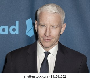 NEW YORK - MARCH 16: Anderson Cooper attends the 24th annual GLAAD Media awards at The New York Marriott Marquis on March 16, 2013 in New York City.