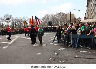 NEW YORK - MARCH 17:  Scenes from St. Patrick Day Parade in and around Central Park April 17, 2011 in NY.