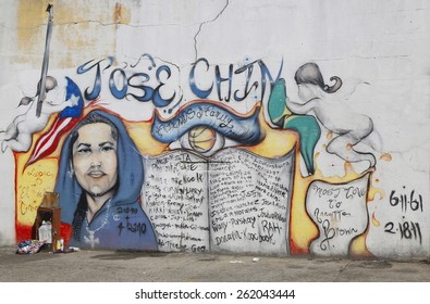 NEW YORK - MARCH 19, 2015: Mural art at Coney Island in Brooklyn. A mural is any piece of artwork painted or applied directly on a wall, ceiling or other large permanent surface