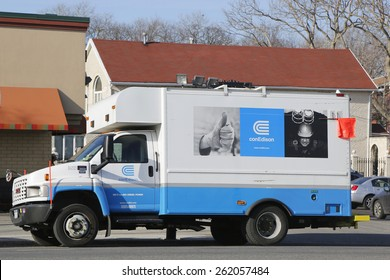 NEW YORK - MARCH 19, 2015: Con Edison repair truck in Brooklyn. Consolidated Edison is one of the largest investor-owned energy companies in the United States