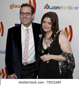 NEW YORK - MARCH 19: Ted Allen and Alex Guarnaschelli attend the 22nd Annual GLAAD Media Awards at The New York Marriott Marquis on March 19, 2011 in New York City.