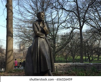 NEW YORK, NEW YORK - MARCH 2017: The Eleanor Roosevelt Monument is a memorial dedicated to Eleanor Roosevelt, located in Riverside Park. It is the first monument dedicated to American president's wife