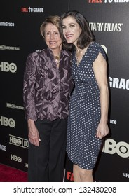 NEW YORK - MARCH 21: Alexandra Pelosi, Nancy Pelosi  attend premiere HBO documentary Fall to Grace at Time Warner Center on March 21, 2013 in New York
