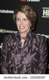 NEW YORK - MARCH 21: Congress Minority Leader Nancy Pelosi attends premiere HBO documentary Fall to Grace at Time Warner Center on March 21, 2013 in New York