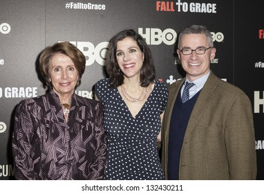 NEW YORK - MARCH 21: Congress Minority Leader Nancy Pelosi, Alexandra Pelosi, Jim McGreevey  attend premiere HBO documentary Fall to Grace at Time Warner Center on March 21, 2013 in New York