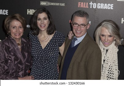 NEW YORK - MARCH 21: Nancy Pelosi, Alexandra Pelosi, Shelia Nevins,  Jim McGreevey  attend premiere HBO documentary Fall to Grace at Time Warner Center on March 21, 2013 in New York